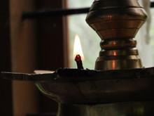 An Oil Lamp Lit As An Offering...