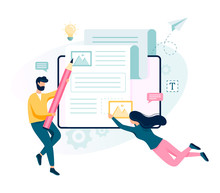 Copywriter Concept. Idea Of Writing Texts, Creativity