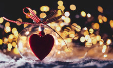 Christmas Glass Ball With A He...