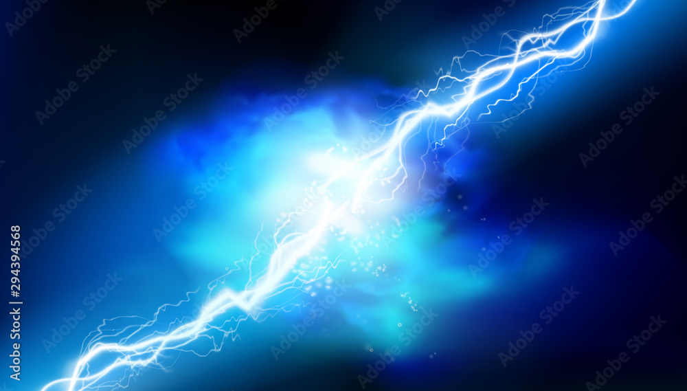 Fototapeta Heat lighting. Electrical energy. Light effects. Vector illustration.