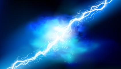 Heat lighting. Electrical energy. Light effects. Vector illustration.