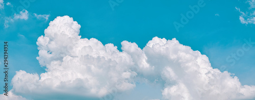 sky cloud blue background panorama, beautiful white, bright weather light simmer Canvas Print