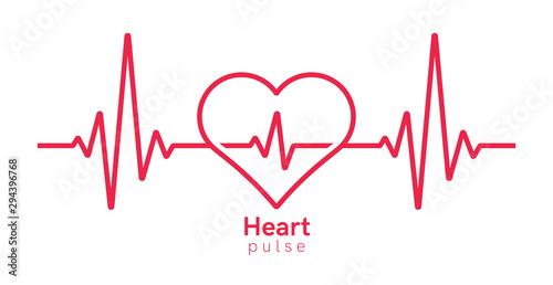 Heart pulse Tablou Canvas