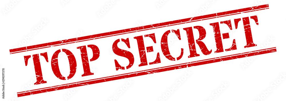 Fototapety, obrazy: top secret stamp. top secret square grunge sign. top secret