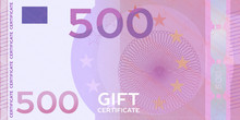 Voucher Template Banknote 500 ...