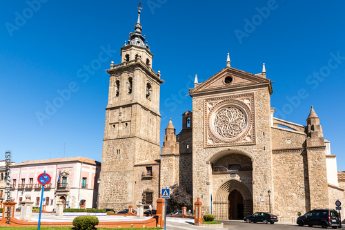 Buildings of the main square of Talavera de la Reina known as square of bread, province of Toledo, Spain. - 294398353