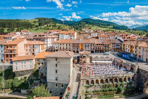 Potes townin Santander, Cantabria, Spain.