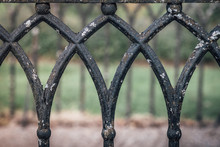 Old Black Iron Fence With Vaul...