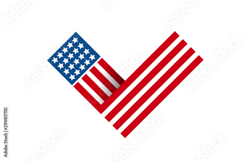 Valokuva  2020 Vote in USA american president banner card