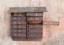 Old Rusty Mailboxes