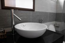 Bathroom Interior With White R...