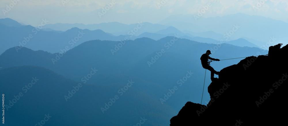 Fototapety, obrazy: Climber