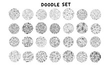 Set Of Doodle Icon. Hand Drawn...