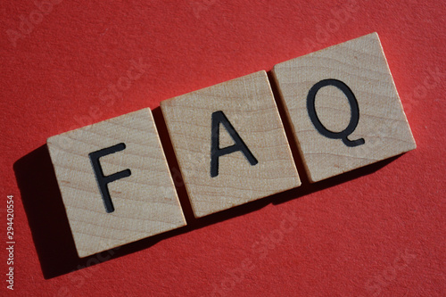 FAQ acronym for Frequently Asked Questions Wallpaper Mural