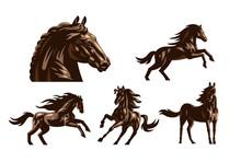 Horse Images In Classic Minima...