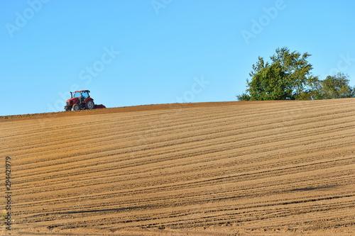 Photo トラクターのある風景
