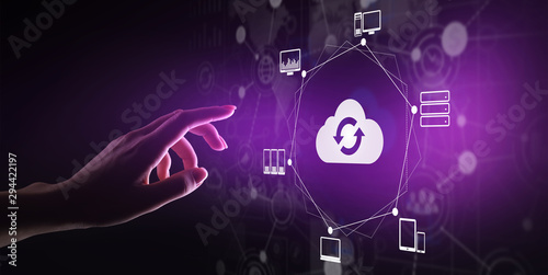 Obraz na plátně  Cloud technology Computing and data storage