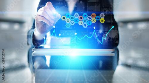 Obraz na plátně  Mixed media, Business intelligence analytics