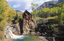 Old Mill In The Colorado Rockies, USA.