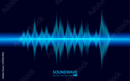 Photo Soundwave vector abstract background