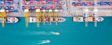Top View Of Deep Water Port Wi...
