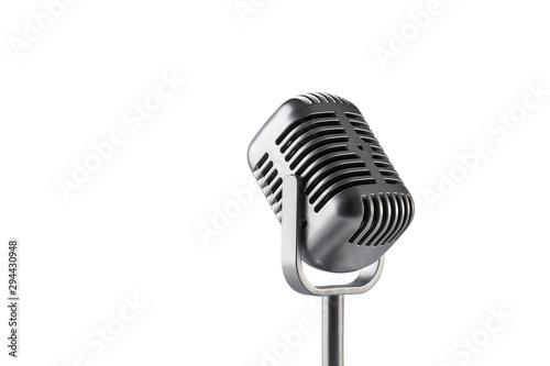 Papiers peints Retro Retro microphone isolated on white background