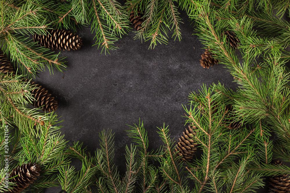 Fototapeta Christmas trees background