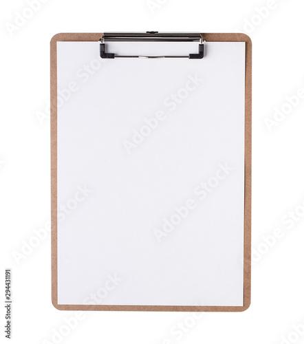 Carta da parati  Clipboard with blank paper