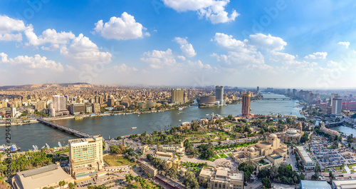 Montage in der Fensternische Cappuccino Panorama of Cairo