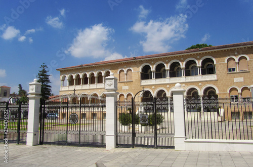 Fotografiet Cityscape in Nicosia. Traveling in Cyprus.