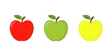Apples Icon Red, Green And Yel...