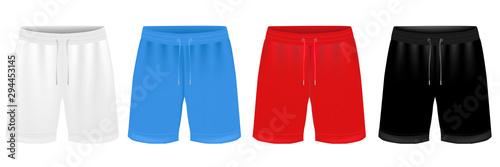 Valokuva Sport Shorts Design Template Set