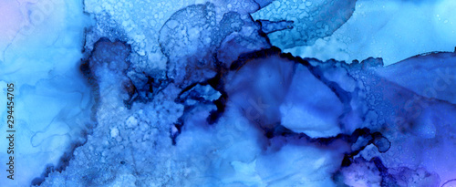 Fototapety, obrazy: Art Abstract paint blots background. Alcohol ink colors. Marble texture.