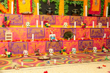 Traditional Mexican Day Of The Dead Altar