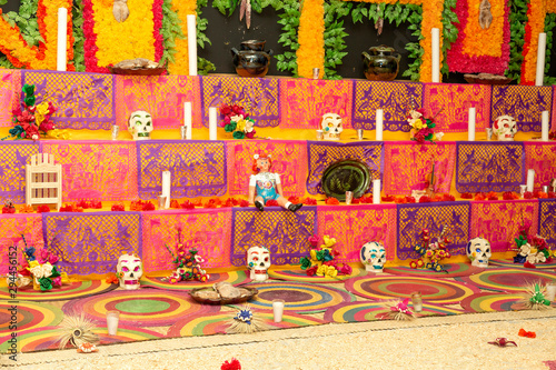 Traditional mexican Day of the dead altar Wallpaper Mural