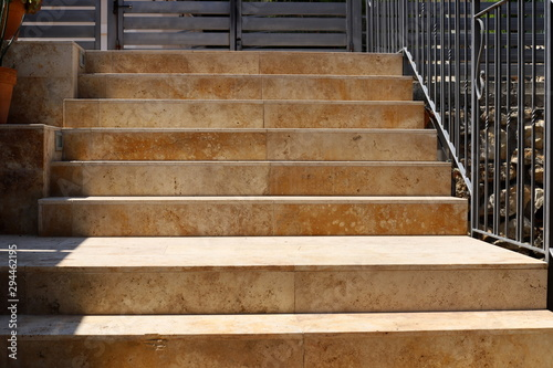 a staircase is located in a city park in the north of the state of Israel