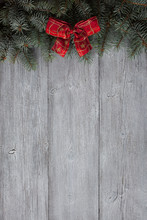 Christmas Wooden Background Wi...