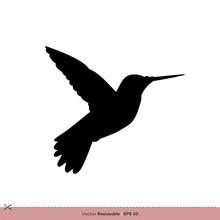 Hummingbird - Bird Silhouette Vector Logo Template Illustration Design. Vector EPS 10.