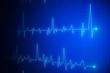 Leinwanddruck Bild - Creative heartbeat sketch