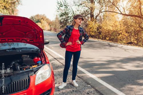 Obraz na plátně Broken car