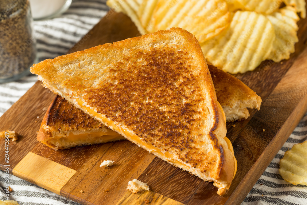 Fototapety, obrazy: Homemade Grilled Cheese Sandwich