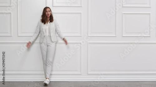 Bored Businesswoman In White