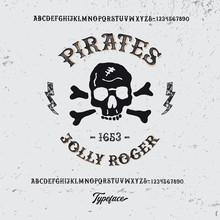 """"""" Pirates"""". Retro  Gothic Font..."""