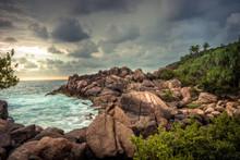 Rocky Beach Sea Lagoon Tropica...