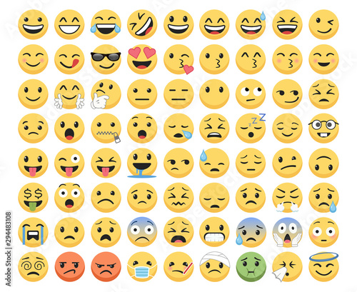 Emoji set pack icons for apps