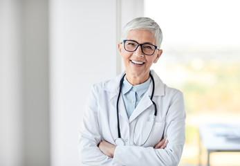 female senior doctor hospital medical clinic medicine health care