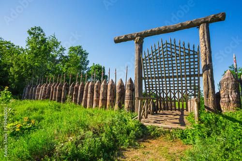 Carta da parati old wooden bridge