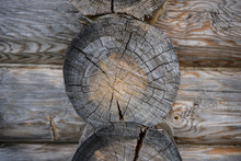 Logs Of An Old Wooden House. H...
