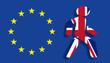 Leinwanddruck Bild - Brexit Konzept - Großbritannien  verlässt die Europäische Union