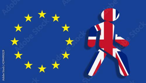 Poster Pays d Europe Brexit Konzept - Großbritannien verlässt die Europäische Union